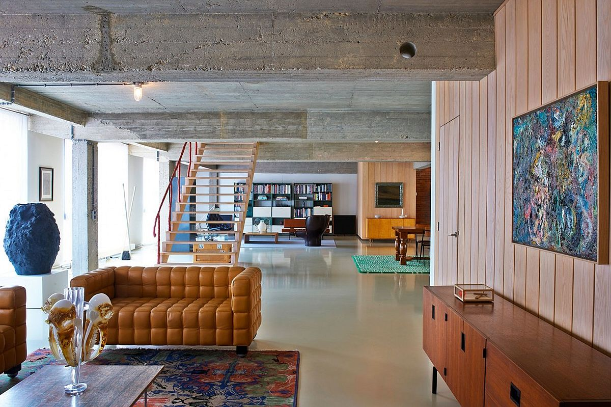 This eclectic loft in belgium is filled with color and for W loft