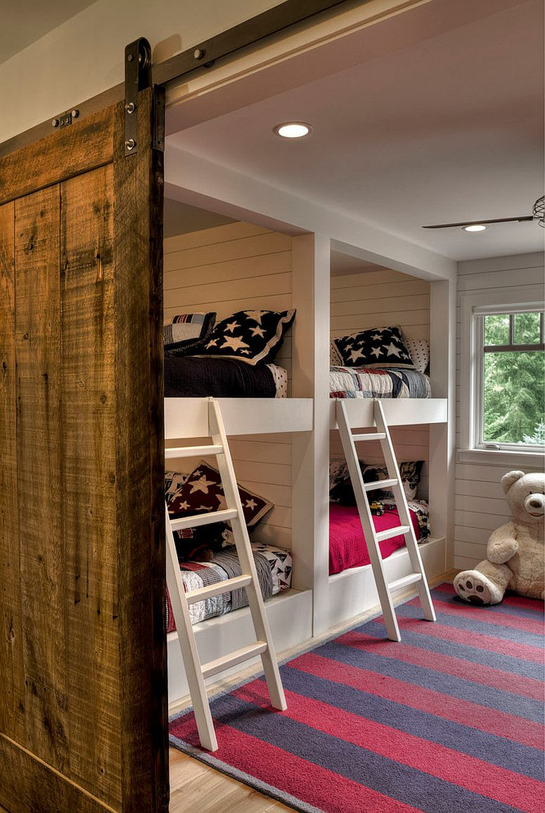 Combine modern elements with rustic style to create a cool kids' bedroom [Design: Lands End Development - Designers & Builders]