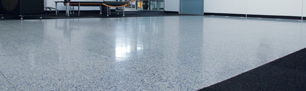 Commercial space featuring terrazzo tile