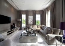 Contemporary-living-room-with-striped-walls-and-mirrored-coffee-table-217x155