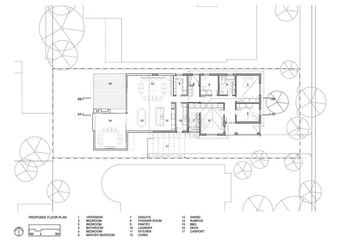 Contemporary single level renovated house in Victoria - Floor plan