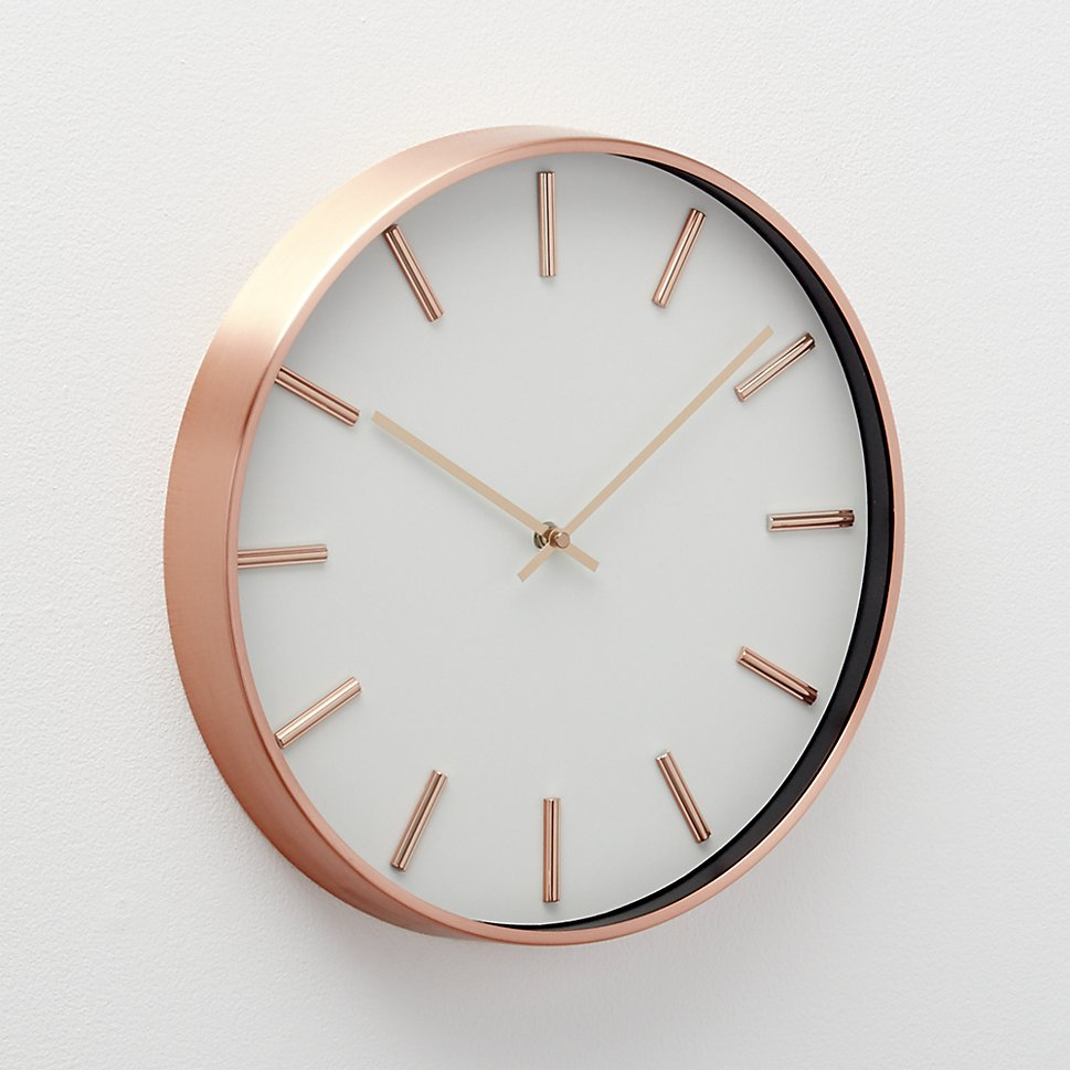 Copper wall clock from Crate & Barrel