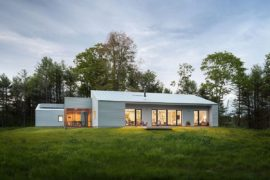 Solar-Powered Zero-Energy Home Surrounded by a Pine Forest