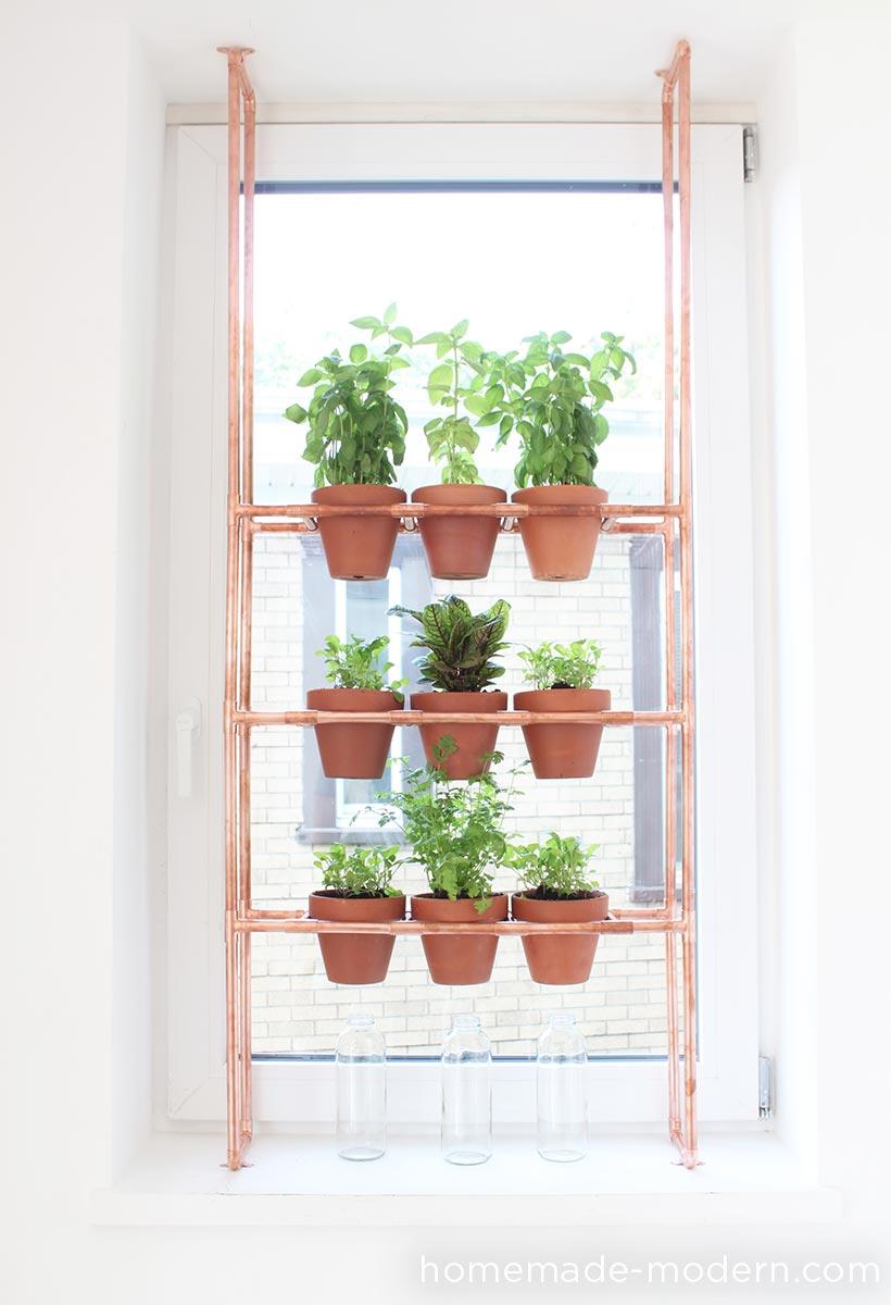 DIY copper pipe garden from HomeMade Modern