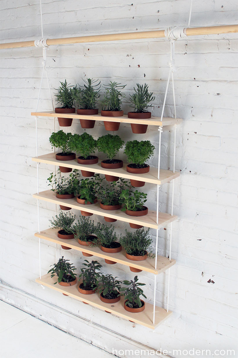 DIY vertical garden from HomeMade Modern