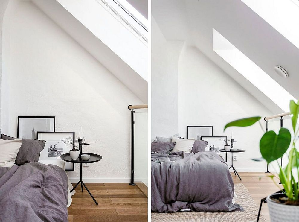 Decorating the small Scandinavian style bedroom in style