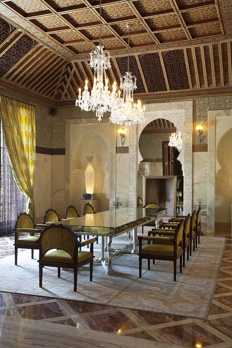Dining room at Royal Mansour Marrakech Hotel offers ample inspiration [Design: OBM International]