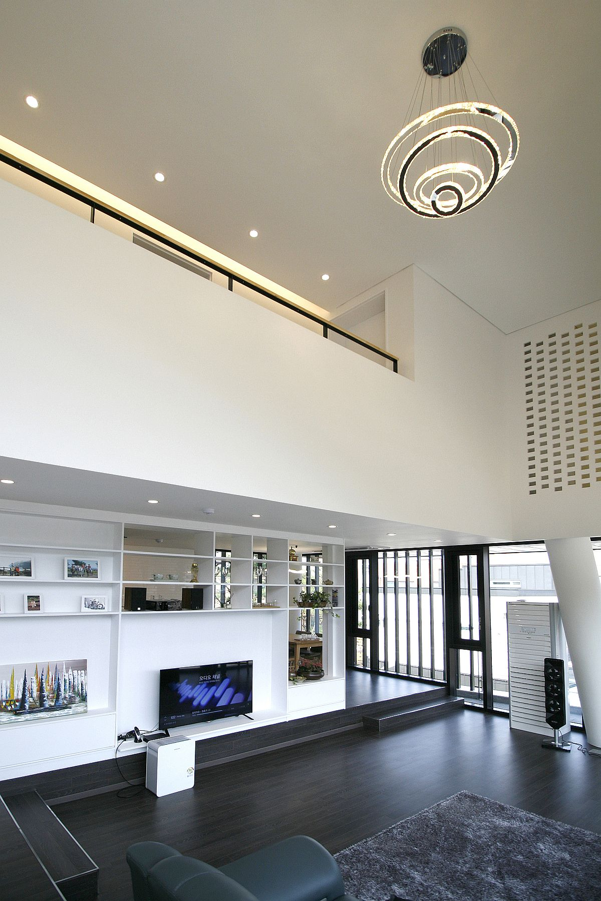View in gallery double height contemporary living room of the south korean home