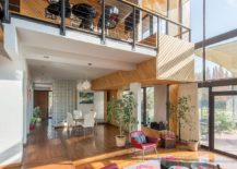 Double height open living area of Casa Chicureo