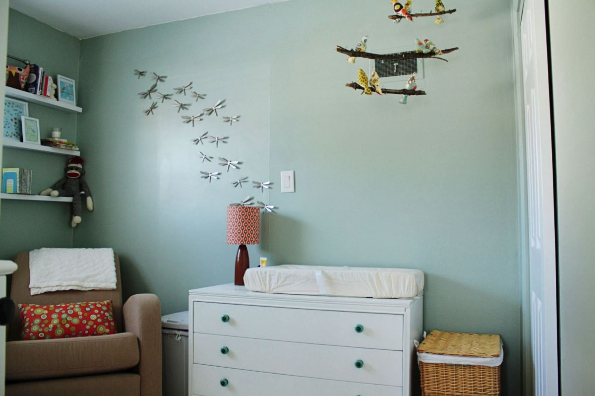 Dragonflies in a modern nursery