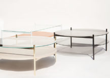 Duotone coffee table selections from Yield 217x155 New Modern Furniture, Lighting and Vase Collections