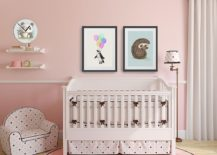 Elegant blend of modern and shabby chic styles in the nursery 217x155 10 Shabby Chic Nurseries with Charming Pink Radiance