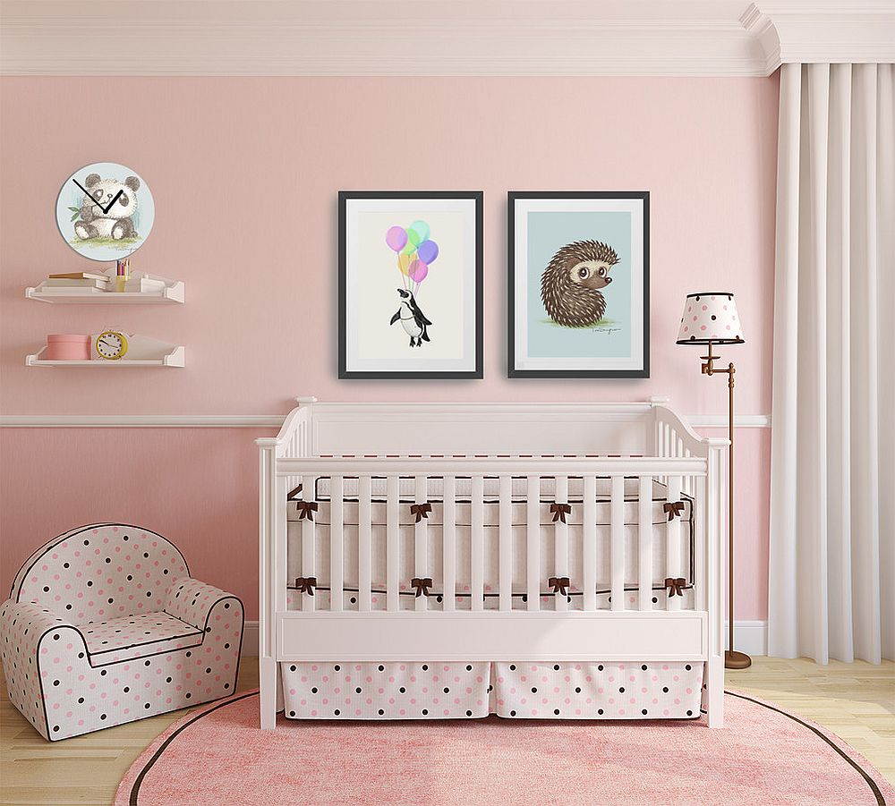 Elegant blend of modern and shabby chic styles in the nursery [From: Hello Sunday]