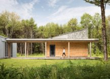 Solar Powered Zero Energy Home Surrounded By A Pine Forest