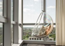 Enjoy the view from a Bubble Chair 217x155 How to Decorate a Room with Floor to Ceiling Windows
