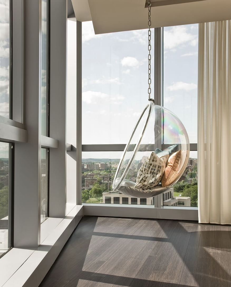 Enjoy the view from a Bubble Chair