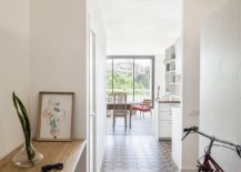 Entry of the small Barcelona apartment renovated to create a more modern living atmosphere 217x155 Sliding Doors Alter the Dynamics of Light Filled Barcelona Apartment