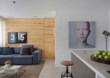 Excellent use of exposed brick and wooden walls to add textural beauty to the interior