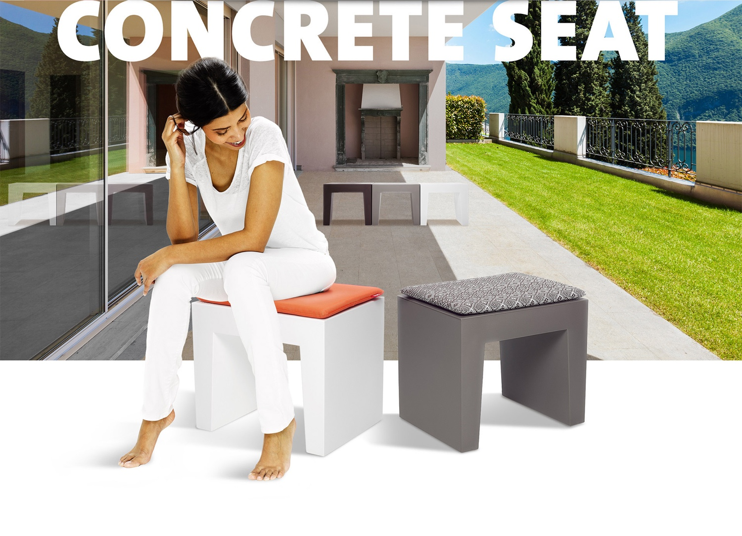 Concrete Seat by Fatboy. Image© Fatboy.