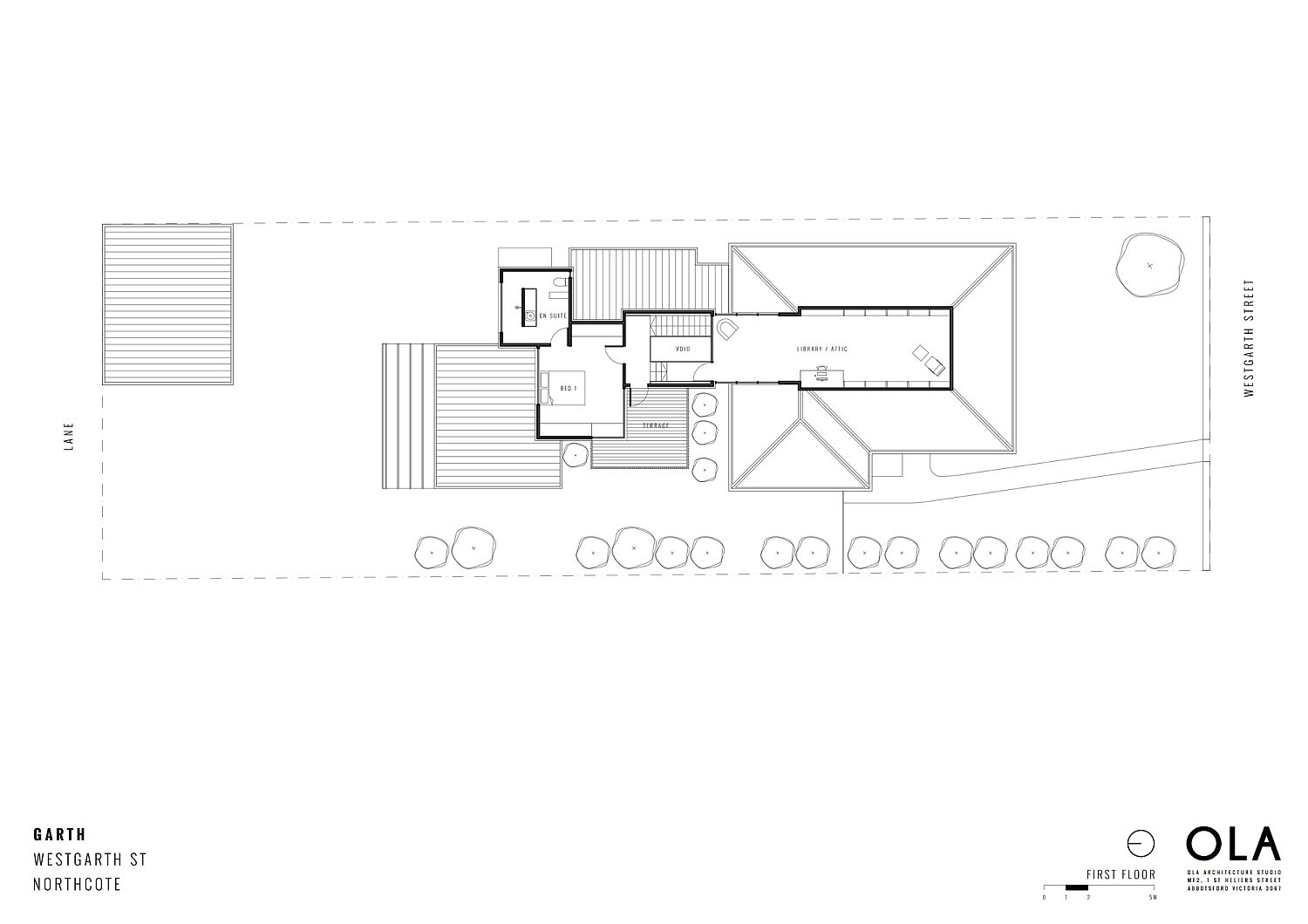 Floor plan of second floor of Garth
