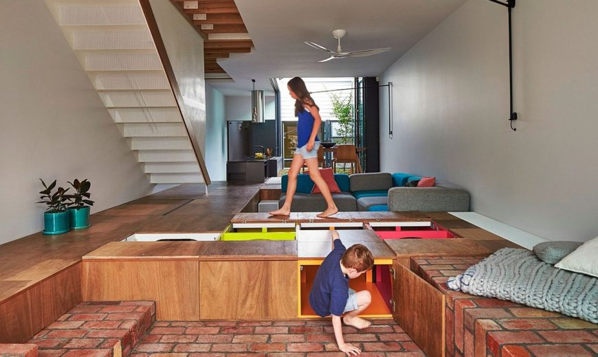 Unboxing Potential: Custom Design Turns the Floor into Toy Storage Space