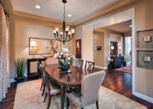 Formal dining room with tropical and Asian touches