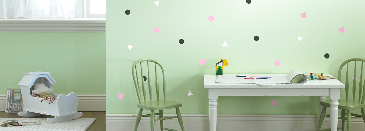 Geometric wall decals from weeDECOR