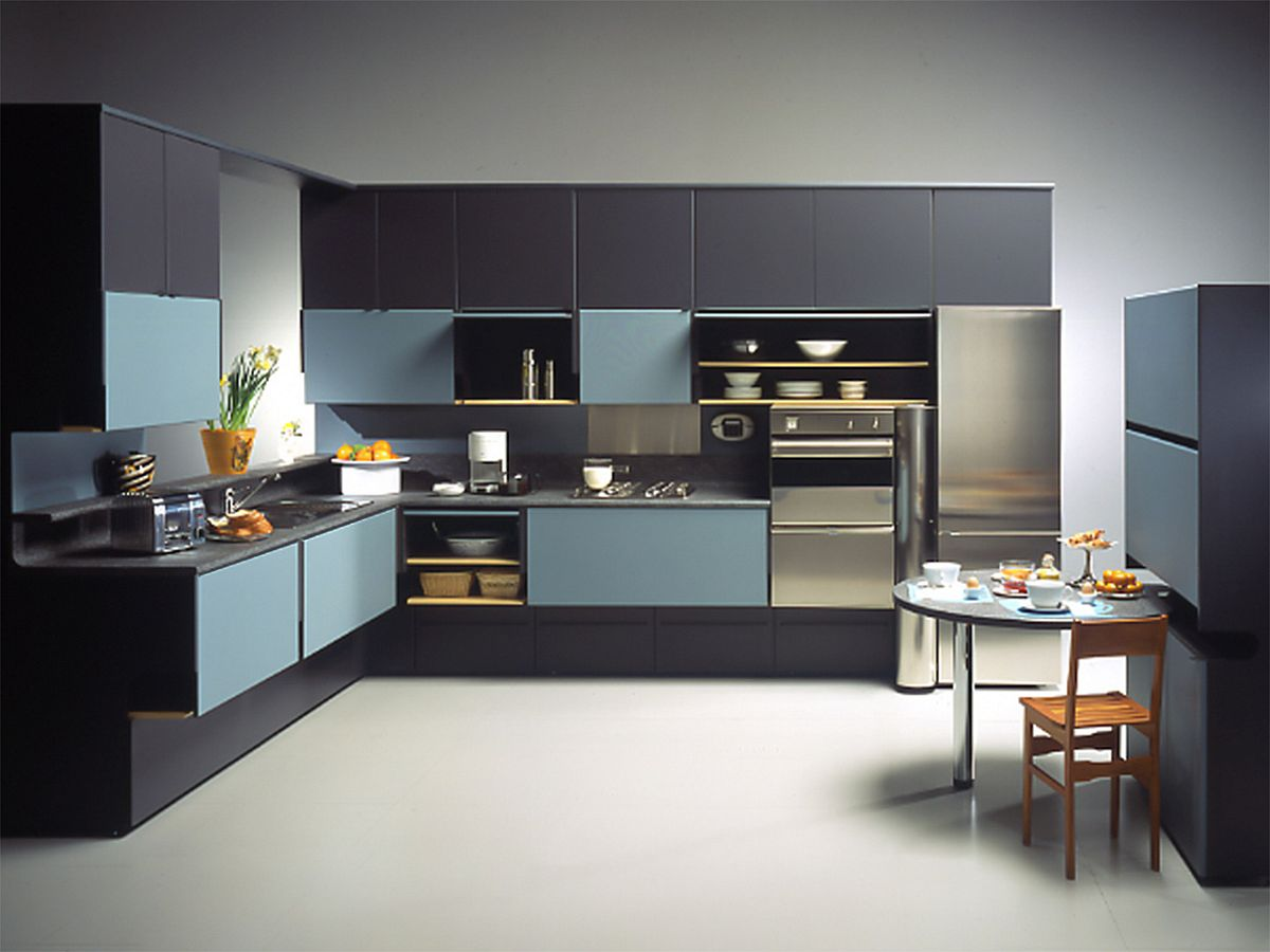 View In Gallery Giovanni Offredi Brought New Design Dynamic To Kitchens  With Compositions Like Pragma
