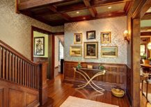 Glamorous-entry-with-a-small-gallery-wall-made-up-of-just-a-few-pictures-217x155