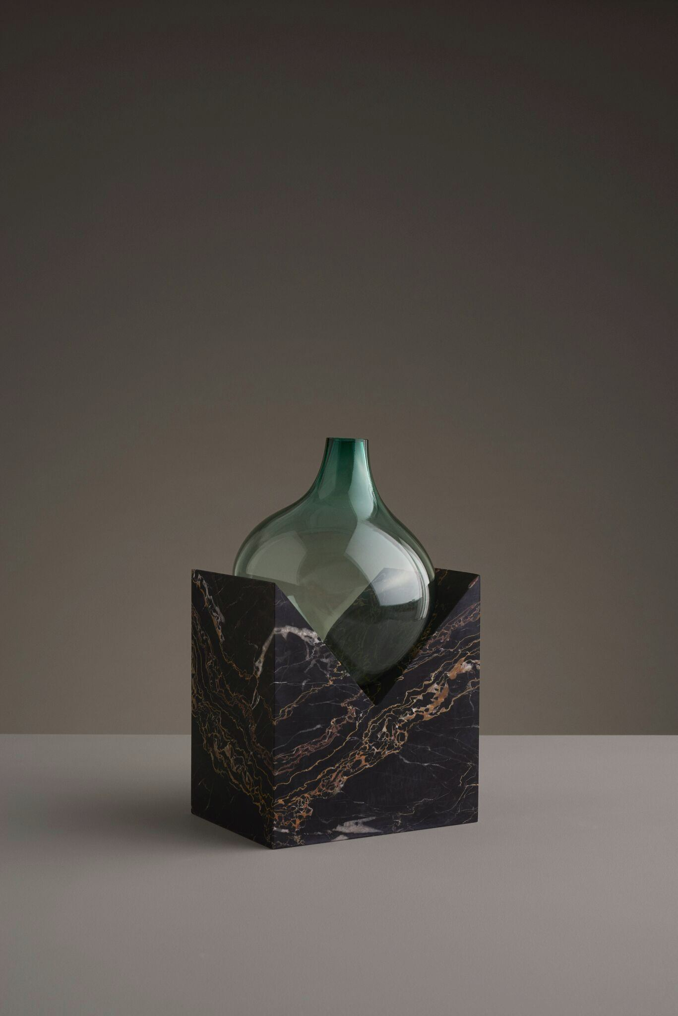 Glass and stone vase from Studio E.O