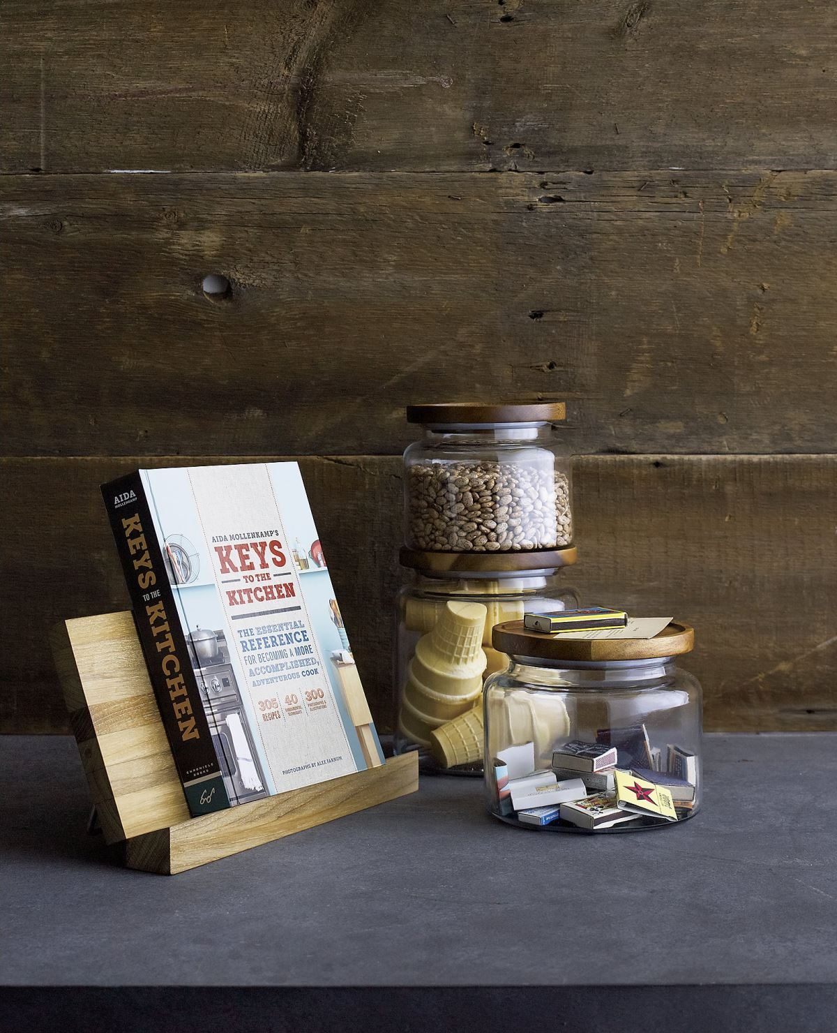 Glass jars from Crate & Barrel