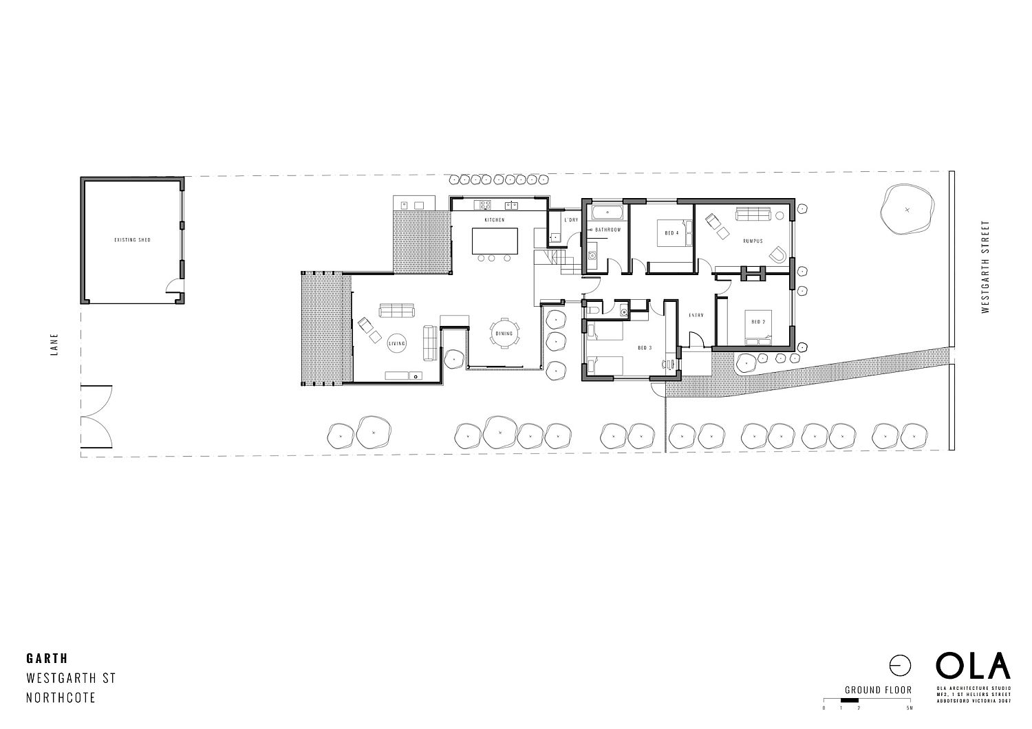 Ground floor plan of the revamped and extended Melbourne home