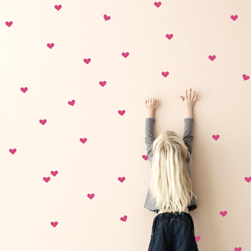 Heart wall decals from ferm LIVING