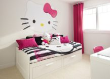 Hello Kitty bedroom idea that works well in teen and adult bedrooms as well