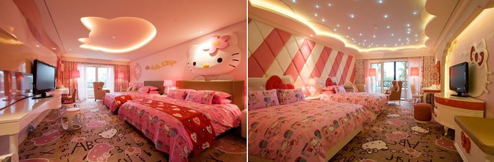hello kitty themed bedroom offers ample inspiration for those who love