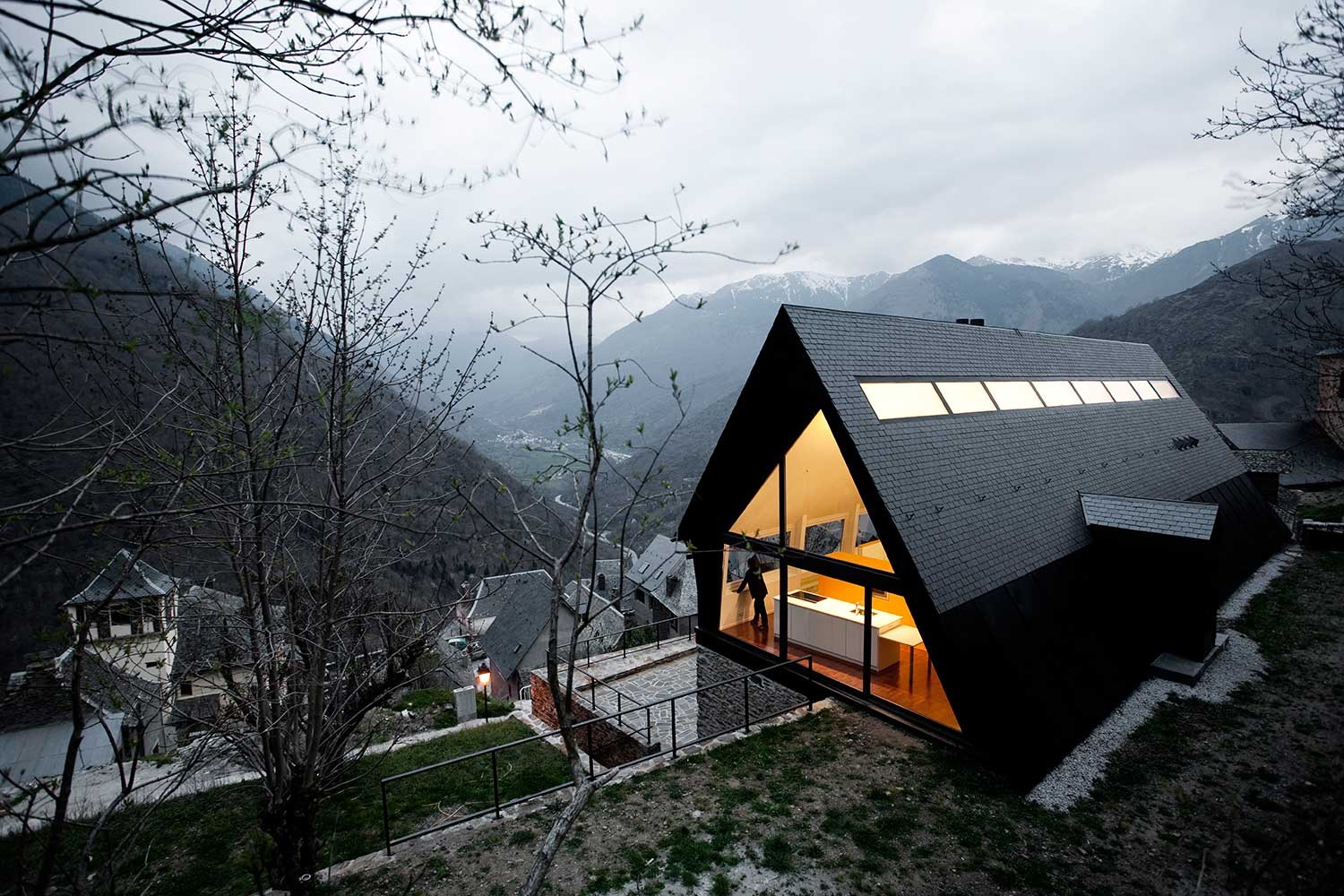 """House at the Pyrenees"" in Spain's Aran Valley."