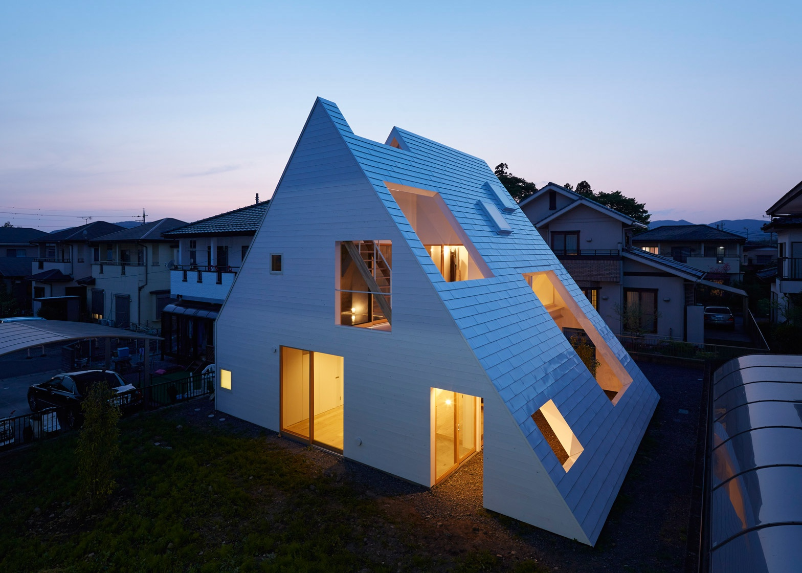 House in Utsunomiya, Tochigi Prefecture, Japan.