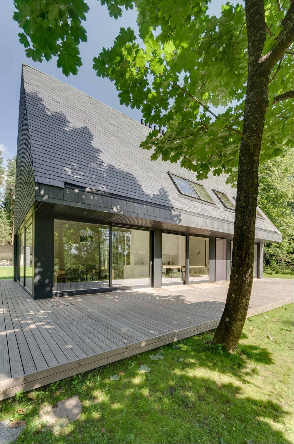 This House in Trakai, Lithuania, was designed by Aketuri Architektai.