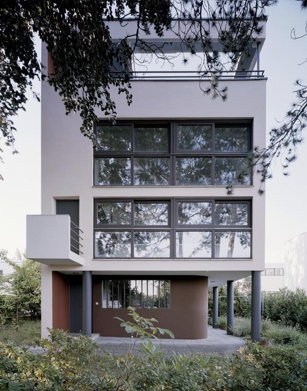 Individual house at Weissenhof Estate, Stuttgart, Germany, 1927. Photo byBirgita Gonzales©Landeshauptstadt.