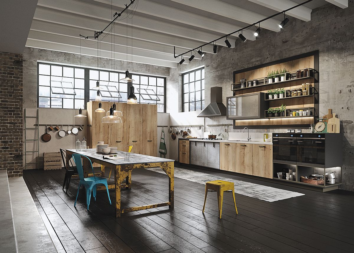 Industrial modern Loft kitchen by Marcon