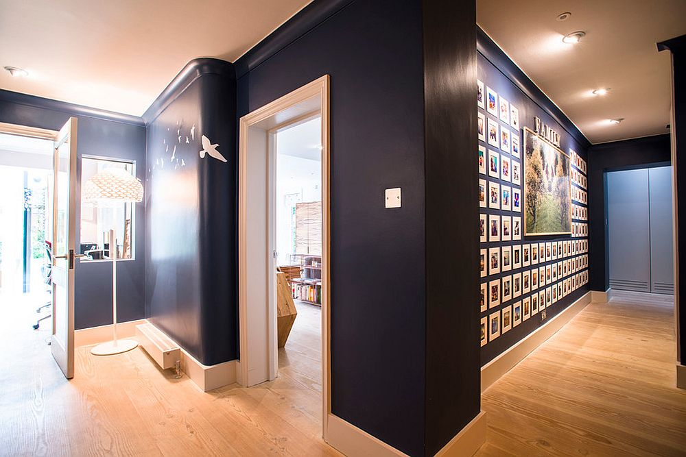 Ingenious gallery wall for the modern entry [From: NW3 Interiors Ltd]