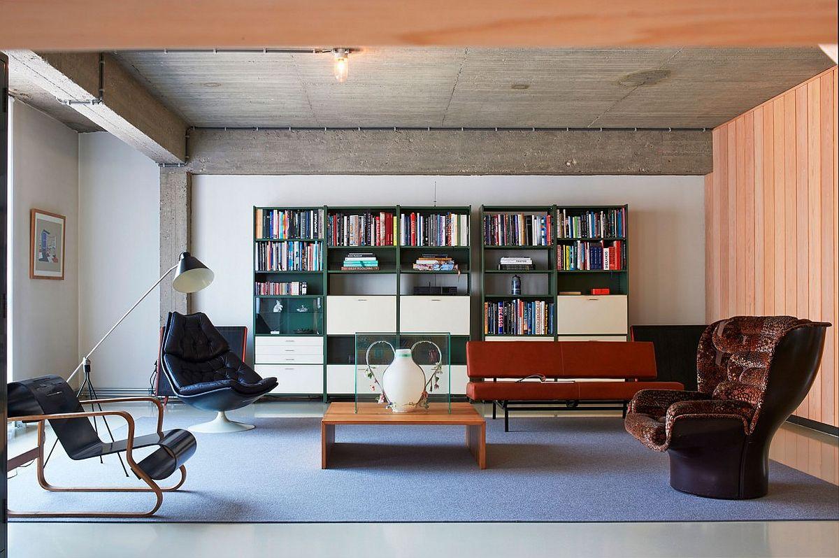 Ingenious modern twin level loft in Belgium designed by Studio Job