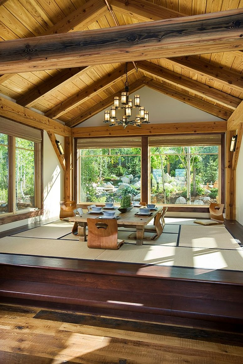 Japanese Tatami Dining Room with Garden View [From: Trilogy Partners / Roger Wade Photography]