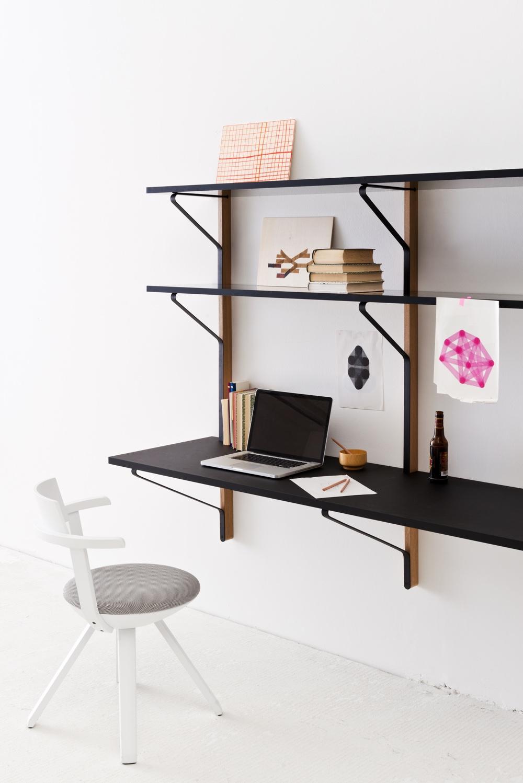 Kaari shelf with desk byRonan & Erwan Bouroullec for Artek.Image courtesy of Artek.
