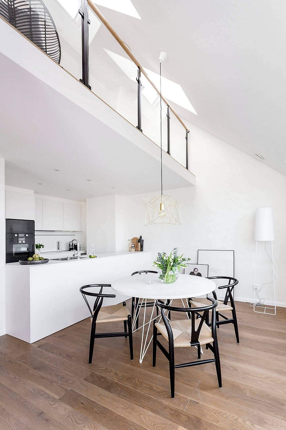 View In Gallery Kitchen And Dining Area Black White