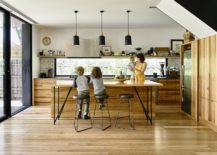 Kitchen becomes the social zone of the extended Melbourne home 217x155 Italianate Victorian Home in Melbourne Restored and Extended in Style