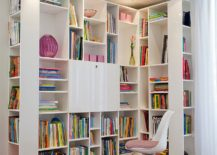 Large units like this can easily turn the corner into a great reading space for the little one