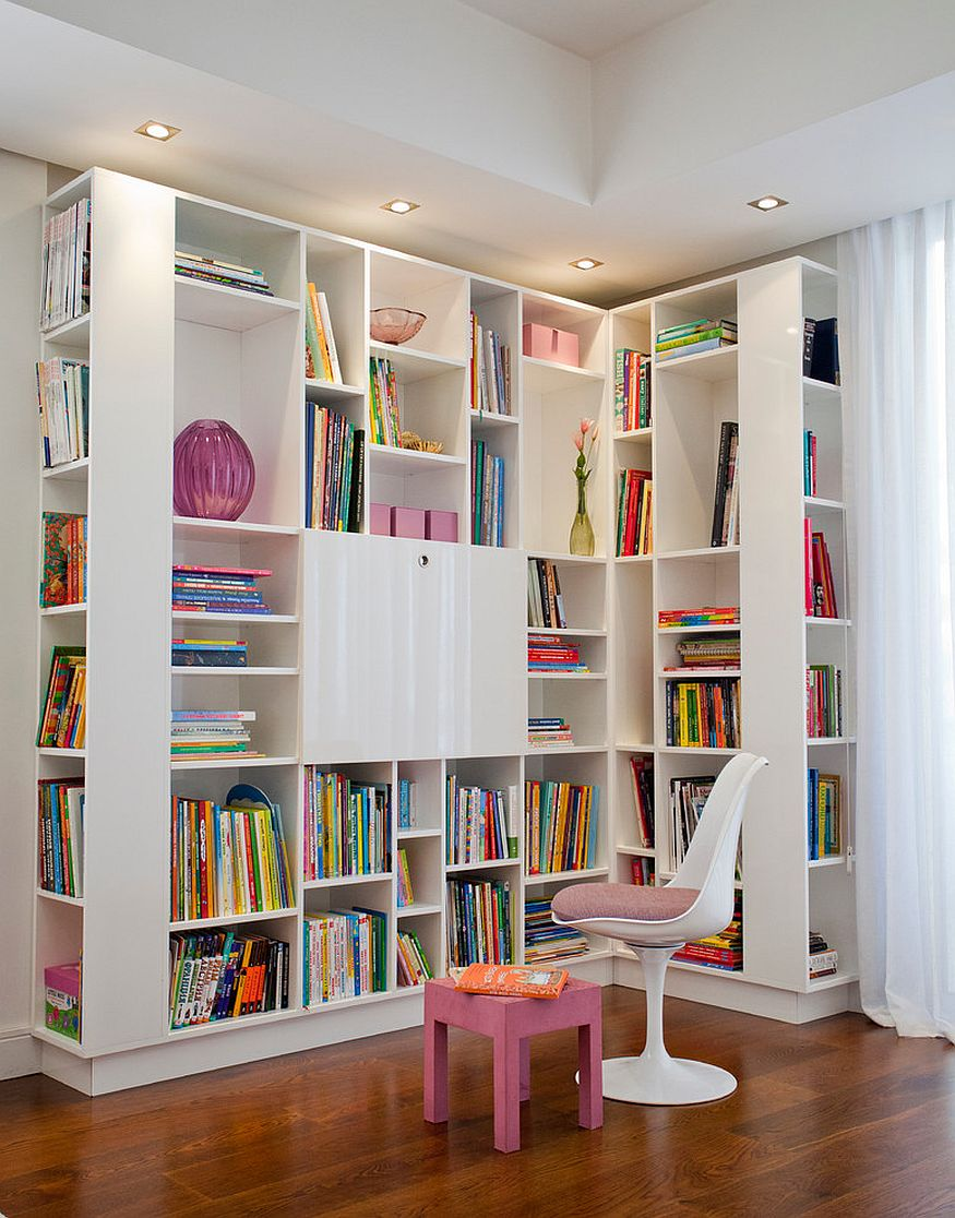 Large units like this can easily turn the corner into a great reading space for the little one [Design: Tanya Design]