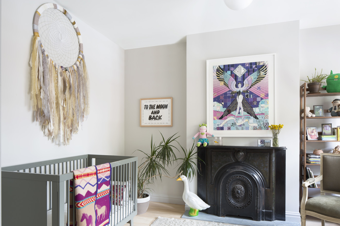 Large wall hanging in a Boho nursery