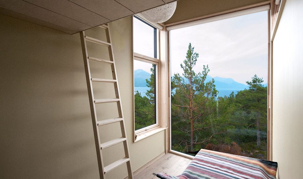 Large windows create perfect nooks to take in the view outside